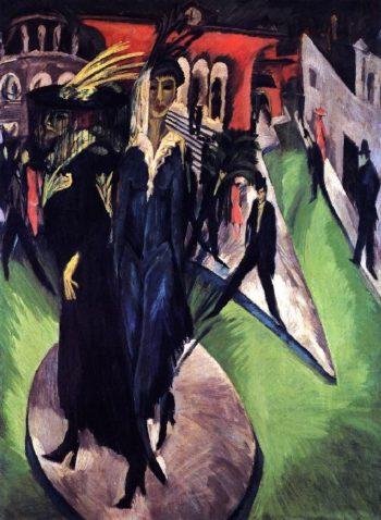 Potsdammer Platz | Ernst Ludwig Kirchner | oil painting