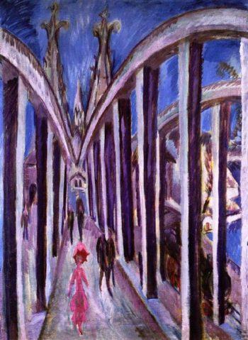 Reheinbrucke | Ernst Ludwig Kirchner | oil painting
