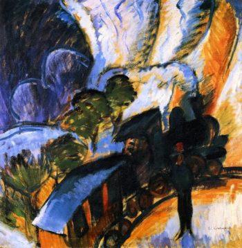 Rhatische Bahn Davos | Ernst Ludwig Kirchner | oil painting