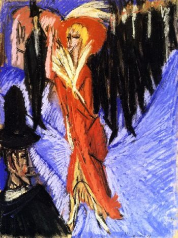 Rote Kokotte | Ernst Ludwig Kirchner | oil painting