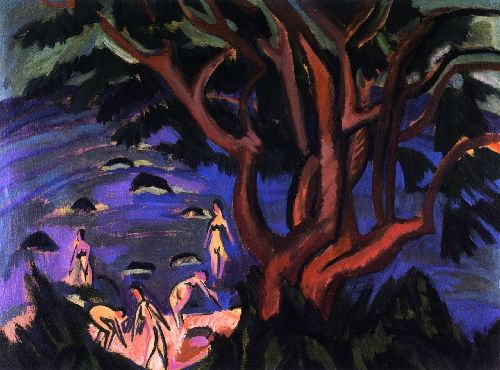 Roter Baum am Strand | Ernst Ludwig Kirchner | oil painting