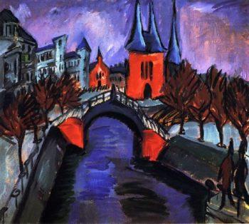 Rotes Eilsabethufer Berlin | Ernst Ludwig Kirchner | oil painting