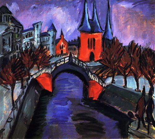 Rotes Eilsabethufer Berlin   Ernst Ludwig Kirchner   oil painting