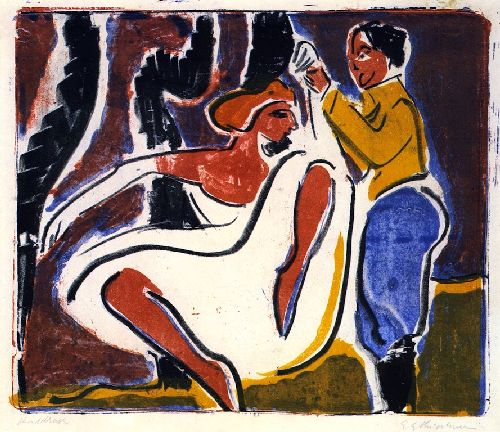 Russian Dancing Pair | Ernst Ludwig Kirchner | oil painting