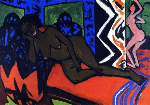 Schlafende Milly | Ernst Ludwig Kirchner | oil painting