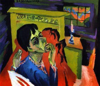 Selbstbildnis als Kranker | Ernst Ludwig Kirchner | oil painting