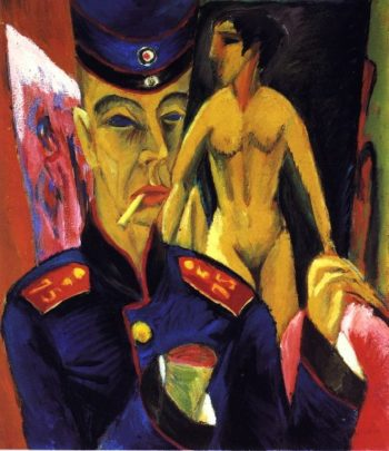 Self Portrait as a Soldier | Ernst Ludwig Kirchner | oil painting