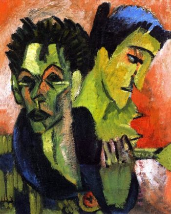 Self Portrait Double Portrait | Ernst Ludwig Kirchner | oil painting