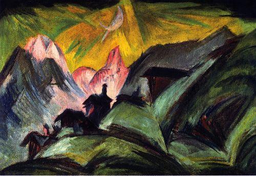 Stafelalp bei Mondschein | Ernst Ludwig Kirchner | oil painting