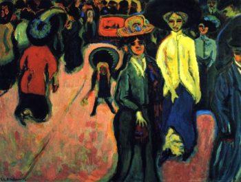 Strabe | Ernst Ludwig Kirchner | oil painting