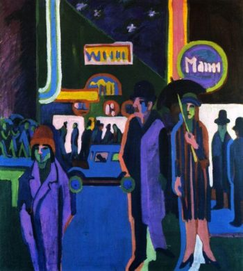 Street Scene at Night | Ernst Ludwig Kirchner | oil painting