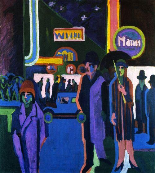 Street Scene at Night | Ernst Ludwig Kirchner | oil painting