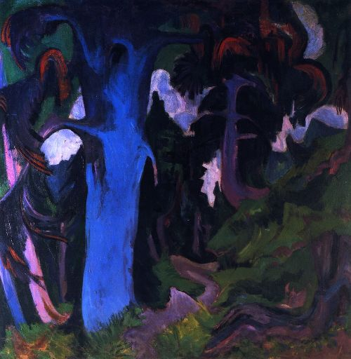 The Blue Tree Bergwald | Ernst Ludwig Kirchner | oil painting