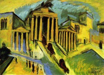 The Brandenberg Gate Berlin | Ernst Ludwig Kirchner | oil painting