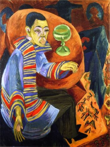 The Drinker Self Portrait | Ernst Ludwig Kirchner | oil painting