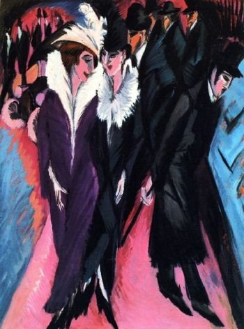 The Street | Ernst Ludwig Kirchner | oil painting