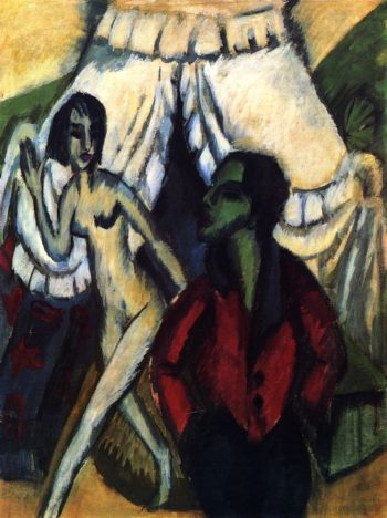 The Tent | Ernst Ludwig Kirchner | oil painting