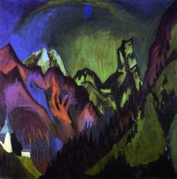 Tinzenhorn Zugenschlucht bei Monstein | Ernst Ludwig Kirchner | oil painting