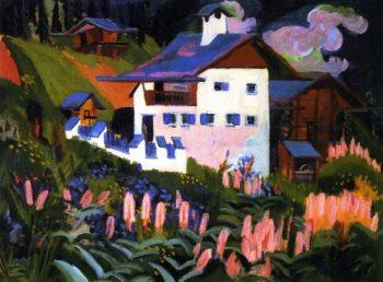 Unser Haus Haus in den Wiesen | Ernst Ludwig Kirchner | oil painting