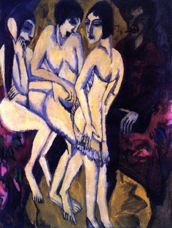 Urteil des Paris | Ernst Ludwig Kirchner | oil painting