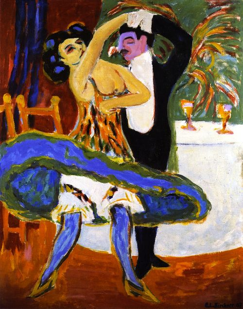Variete Englisches Tanzpaar   Ernst Ludwig Kirchner   oil painting
