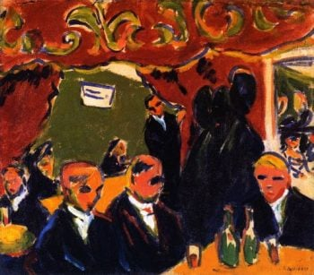 Wine Bar | Ernst Ludwig Kirchner | oil painting