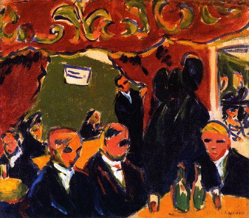 Wine Bar | Ernst Ludwig Kirchner | oil painting