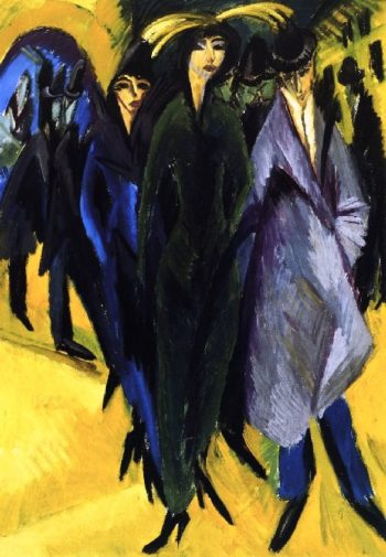 Woman in the Street   Ernst Ludwig Kirchner   oil painting
