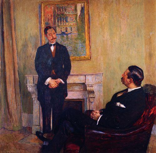 Gaston and Josse Bernheim Rue Richepanse   Edouard Vuillard   oil painting