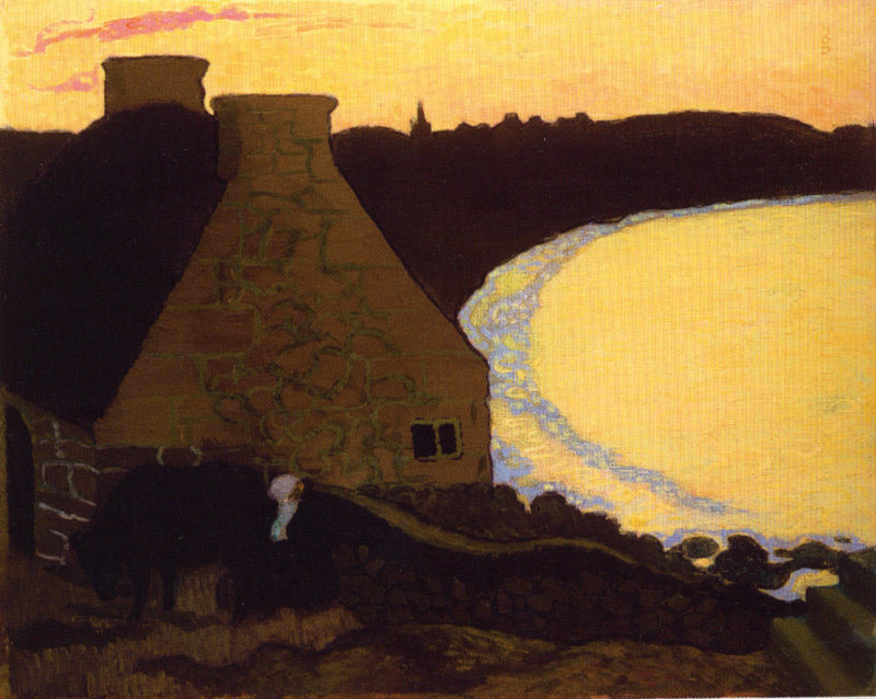 Breton Landscape In Yellow   Maurice Denis   oil painting