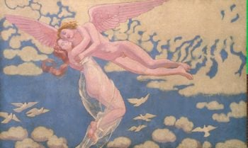 Cupid Carrying Psyche Up to Heaven | Maurice Denis | oil painting