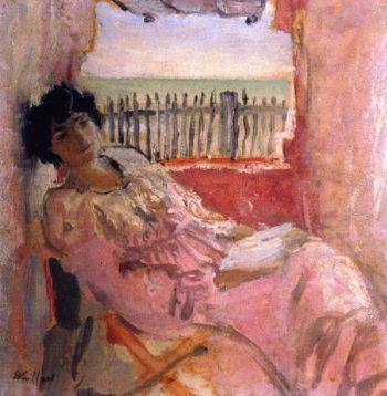 Madame Hessel at the Seashore | Edouard Vuillard | oil painting