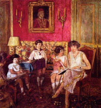 Madame Jean Bloch and Her Children | Edouard Vuillard | oil painting