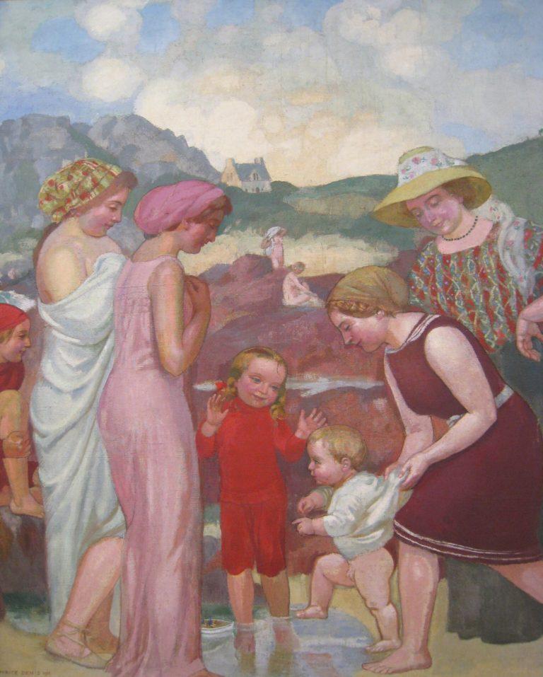 Famille au bord de la mer | Maurice Denis | oil painting