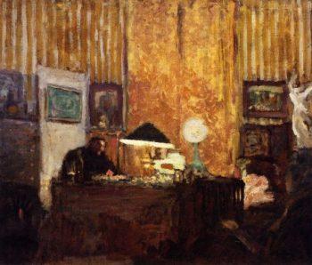 Thadee Natanson at His Desk   Edouard Vuillard   oil painting