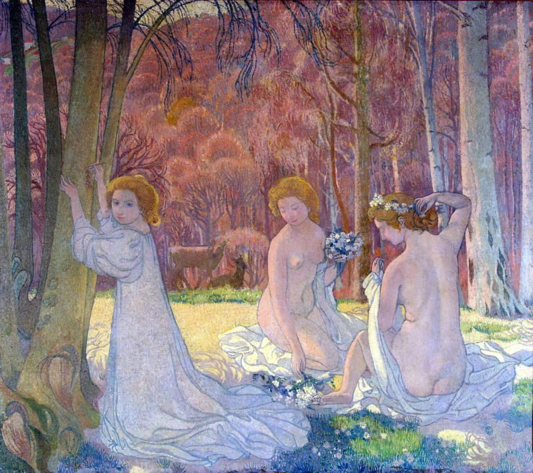 Figures in a Spring Landscape | Maurice Denis | oil painting