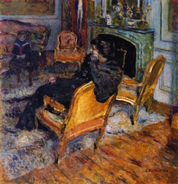 The Gilded Chair Madame George Feydeau and Her Son | Edouard Vuillard | oil painting