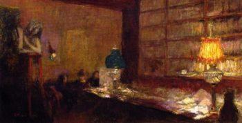 The Green Lamp   Edouard Vuillard   oil painting