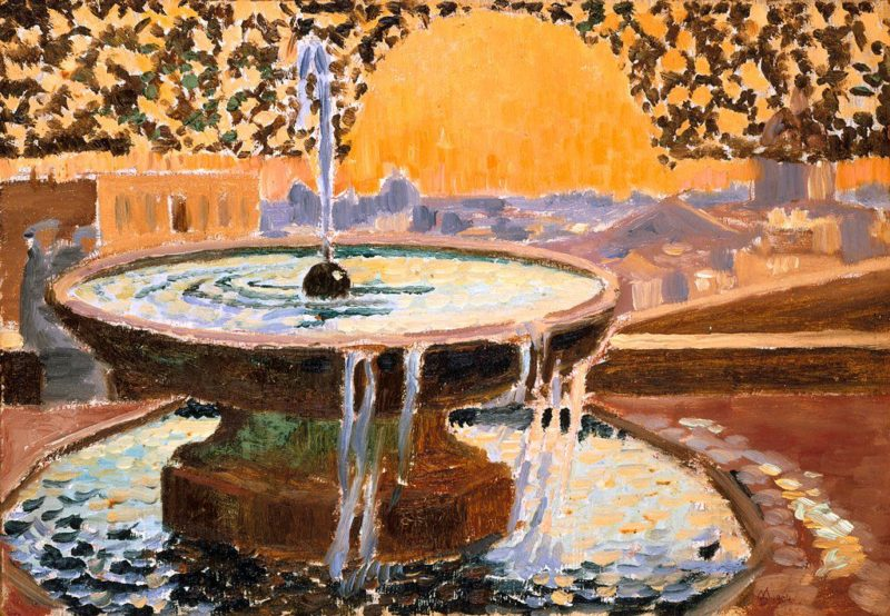 Fountain at the Villa Medici | Maurice Denis | oil painting