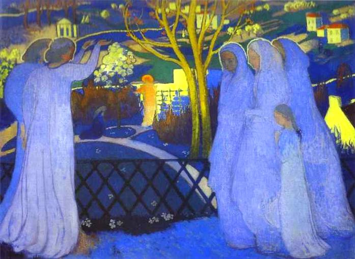 Holy Women Near the Tomb | Maurice Denis | oil painting