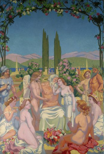 In the Presence of Gods Jupiter Bestows Immortality on Psyche and Celebrates Her Marriage to Eros | Maurice Denis | oil painting