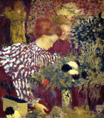 Woman in a Striped Dress | Edouard Vuillard | oil painting