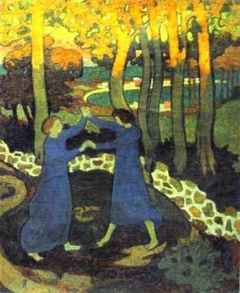 Jacob's Battle with the Angel | Maurice Denis | oil painting