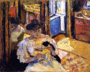 Woman Seated on a Sofa | Edouard Vuillard | oil painting