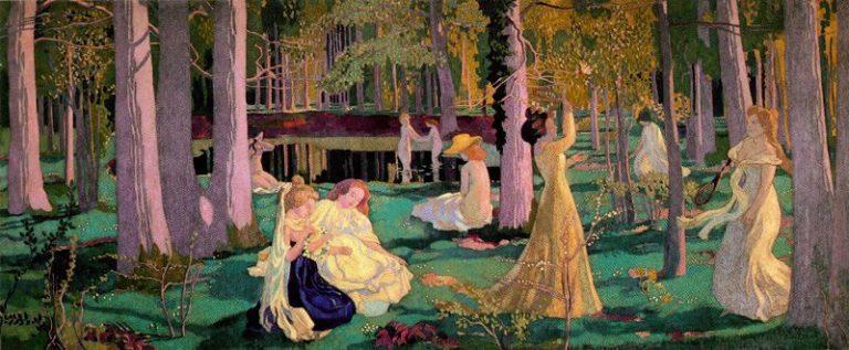Jeu de volant   Maurice Denis   oil painting