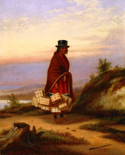 A Caughnawage Woman   Cornelius Krieghoff   oil painting