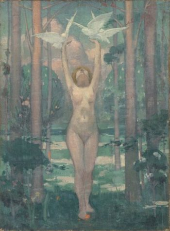 La femme aux colombes | Maurice Denis | oil painting