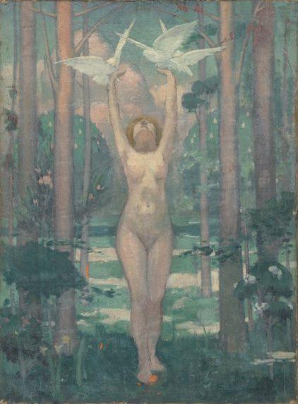 La femme aux colombes   Maurice Denis   oil painting