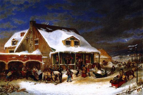 After the Ball Chez Jolifou | Cornelius Krieghoff | oil painting