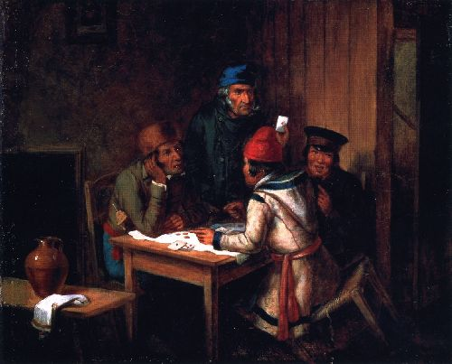 A Game of Cards | Cornelius Krieghoff | oil painting